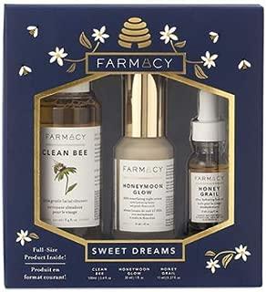 [Farmacy Sweet Dreams Limited Edition Holiday Set]Clean Bee Ultra Gentle Cleanser 100ml, Honeymoon Glow Night Serum 30ml, Honey Grail Face Oil 11ml