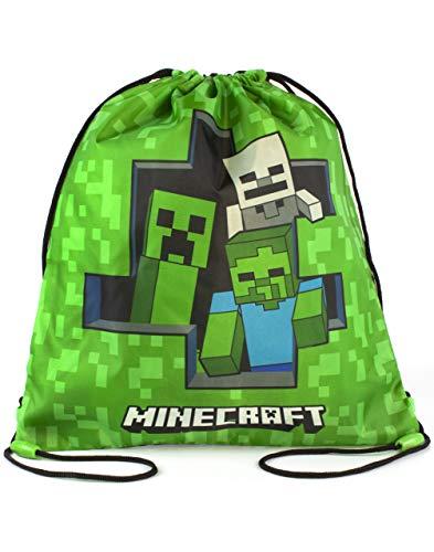 Minecraft Zombie Creeper Skelettgrün Kordelzug Swim Tasche