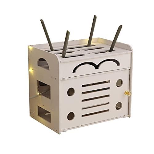 JIE KE Multifunción Caja de Almacenamiento enrutador WiFi Sitio de Almacenamiento Conjunto de Cajas de Escritorio Caja de Escritorio Rack Rack Control Remoto Caja de arreglos