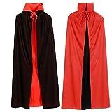 [ミューズ]ハロウィン クリスマス マント ドラキュラ風 赤黒 リバーシブル コスプレ イベント 衣装 (90cm)