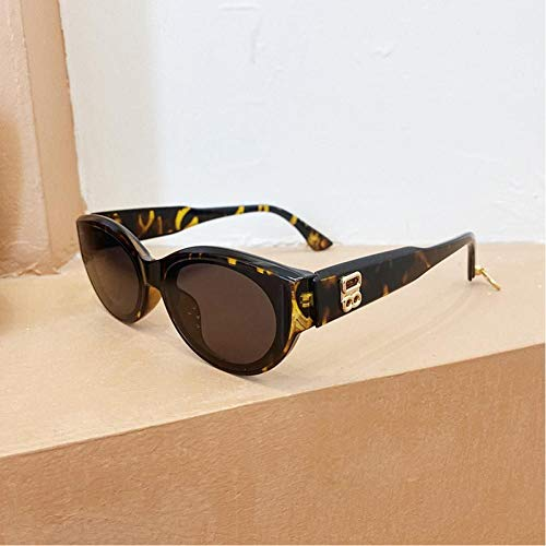 ZZOW Ins Popular Fashion Retro Small Cat Eye Mujeres Gafas De Sol De Lujo Sombras Uv400 Hombres Vintage Grey Leopard Sun Glasses