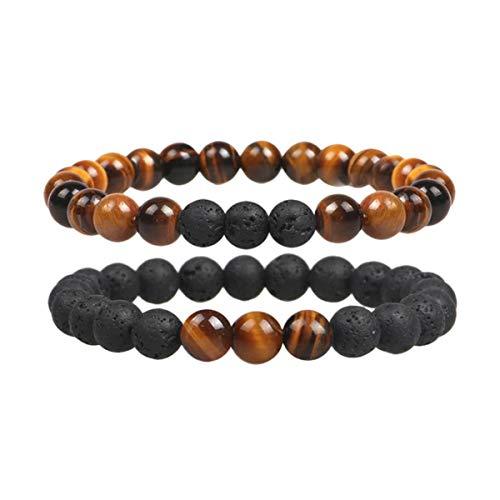 Charm Tiger Eye Beads Bracelets for Women Health Blance Natural Stone Stretch Bracelet Men Fashion Jewelry Pulsera Hombre Gift