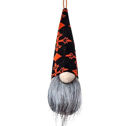 KOUQI Bat Spider Stripe GNOME Doll Decoration Paparazzi Pendulum Rudolph 17 * 6 Cruz Roja