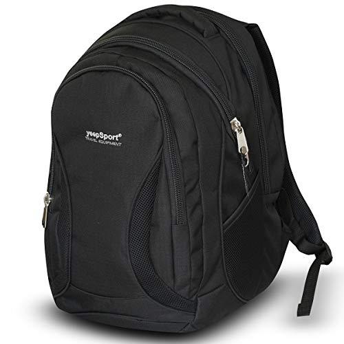 Mochila Escolar Grande para niños y niñas (40 litros), Premium - yeepSport S106dx (Negro)