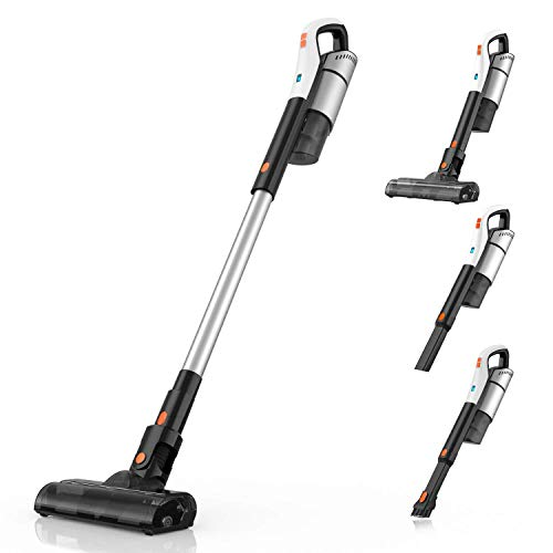 Meiyou Cordless Stick-Vacuum Cleaner-Lightweight Powerful-Suction - 4 in 1 Upright Bagless Vacuum with Cyclonic 18Kpa for Pet Hair Hardwood Floors