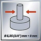 Einhell Oberfräse TC-RO 1155 E (1100 W, Ø 6 und 8 mm, Drehzahlregelung, Parallelanschlag, Absaugadapter, inkl. Zubehör) - 9