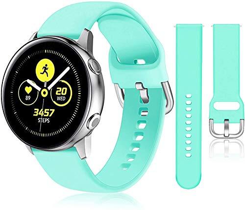 Gransho Correa de Reloj Recambios Correa Relojes Caucho Compatible con Galaxy Watch 42mm / Watch 3 41mm / Watch Active - Silicona Correa Reloj con Hebilla (20mm, Pattern 9)