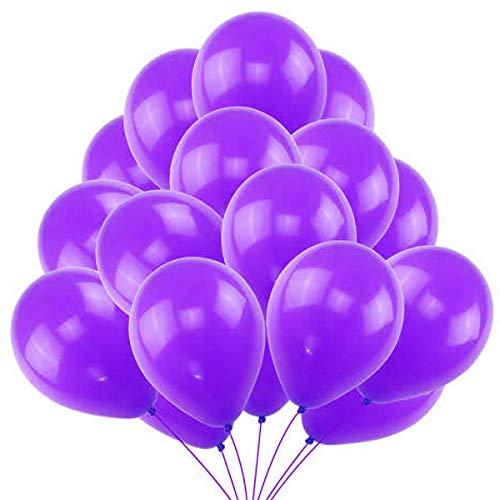 50 Palloncini Viola in Lattice Premium. Palloncini per Elio da 36 cm in Viola di 3,2g. Decorazioni e Accessori per Festa di Compleanno