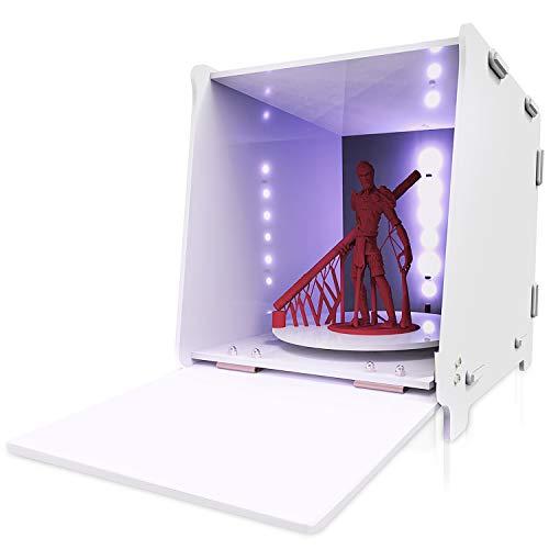 Caja Curado Resina,GIANTARM Geeetech caja de curado de resina, Con la función de ajuste de tiempo, la plataforma giratoria de 360 ° se puede curar uniformemente