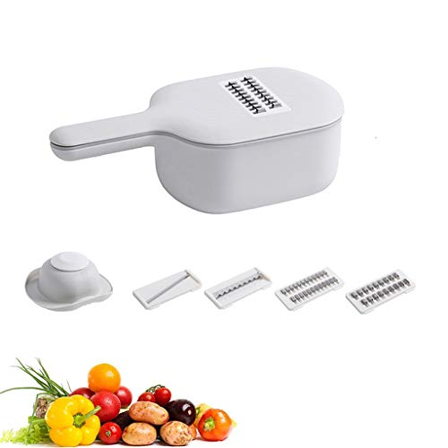 Handheld Vegetable Slicer Salad Utensil, Perfect for Salad Zucchini Carrots Onions and All Vegetables, Make Low Carb Gluten-Free Meals, Adjustable Thickness,B