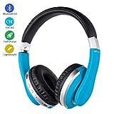 Bluetooth Cuffie sopra l'orecchio, cancellazione del rumore cuffie Wireless Headphones, stereo pieghevole Bass cuffie microfono incorporato, Soft memoria Earmuffs proteine - per TV / PC / Phone,D