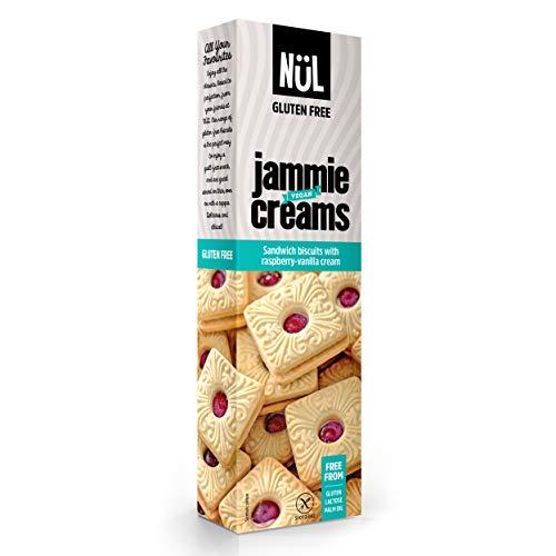 NÜL - Gâteaux fourrés à la crème framboise/vanille et aux framboises, sans gluten, 12 x 115 g