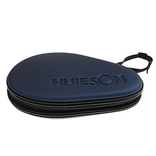 MagiDeal Premium Table Tennis Racket Case Ping Pong Paddle Bag Cover Waterproof Material Smooth Zipper - Dark Blue
