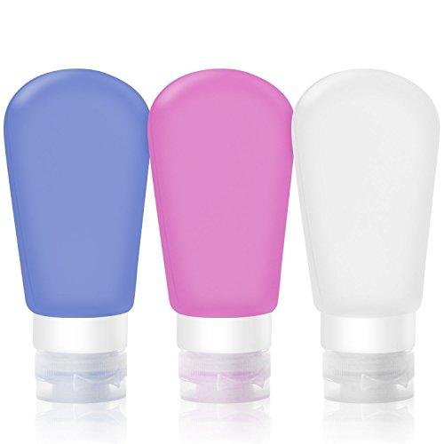 Wady 3Stück nachfüllbar & Flexibler Travel Container für Shampoo, Conditioner, Lotion, Toilettenartikel