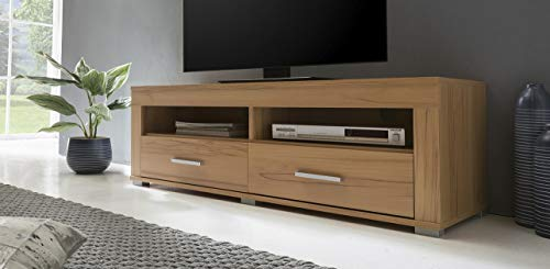 ambiato Lowboard Kernbuche Nb. 2 Schubladen TV-Schrank Fernsehschrank TV-Lowboard 120x39x37 Made in Germany