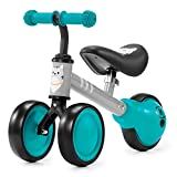 Kinderkraft Bicicleta sin Pedales CUTIE, Triciclo, Segura, Ultraligera, Turquesa