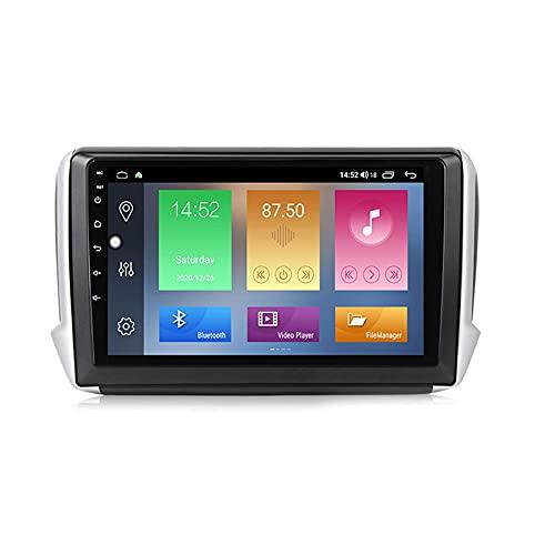 Android 10.0 Car Stereo 2 DIN In-Dash Radio para Peugeot 2008208 Serie 2013-2020 Navegación GPS 10 '' Unidad Principal Reproductor Multimedia MP5 Receptor de Video con 4G / 5G WiFi Carplay