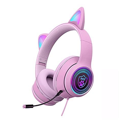 GUOJIAYI Auriculares de diadema para videojuegos con reducción de ruido y micrófono X