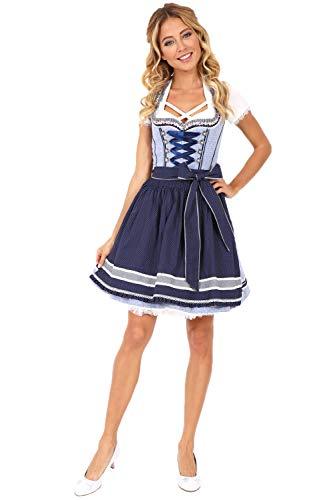 Krüger Dirndl Luana 50er Länge blau dunkelblau 48035-8 (50er Länge blau, 36)