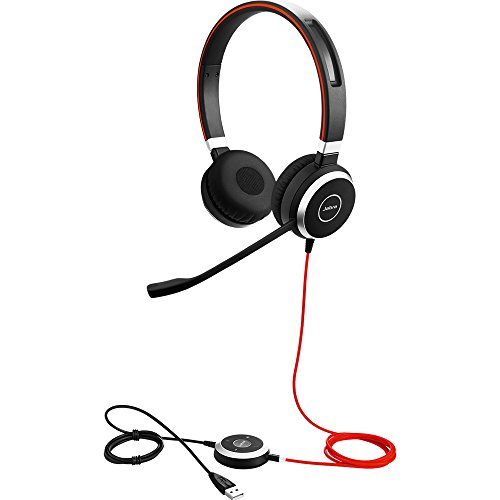 Jabra Evolve 40 UC Stereo Wired Headset / Music Headphones (U.S. Retail Packaging)