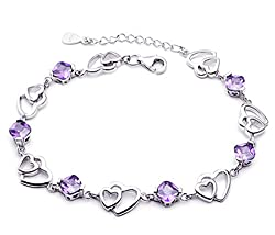 100% Brand New Premium Quality Jewellery Materials : 925 Sterling Silver High Quality Crystal Perfect Gift for Christmas Day, Valentine's Day, Birthday, Anniversaries 30 Day Money Back Guarantee