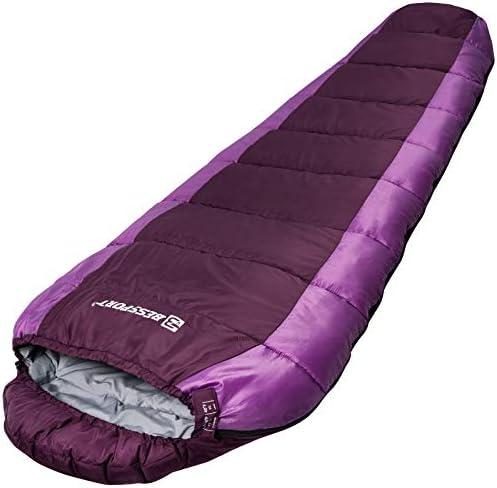 Bessport Mummy Sleeping Bag 3 Season Camping Sleeping Bag Water Repellent Lightweight Sleeping product image