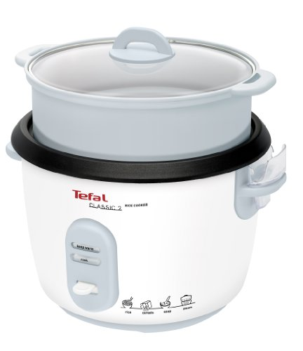 Tefal Reiskocher RK1011 | Voreingestellte Kochprogramme | 10 Tassen Kapazität (5L) | Automatische Warmhaltefunktion | Manuelle Anpassungen | Perfekt Gegarter Reis | Dampfkorb Inklusive | 700W
