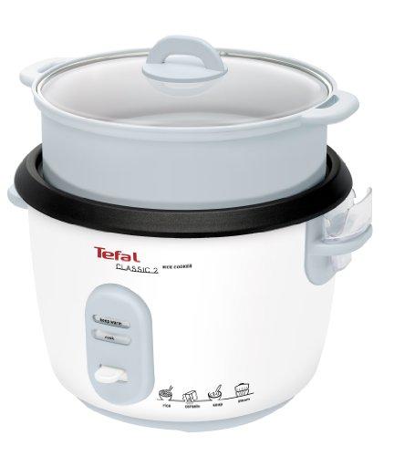 Tefal RK1011 Reiskoker [vooraf ingestelde kookprogramma's; 10 kopjes capaciteit (1,8 l); automatische warmhoudfunctie; handmatige aanpassingen; perfect gegaarde rijst; stoommand inbegrepen]