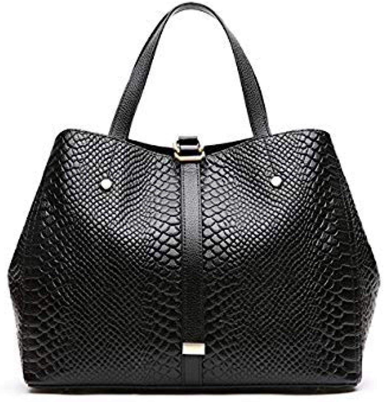 Bloomerang SUDS Brand Women Genuine Leather Handbag Female Fashion Serpentine Crossbody Messenger Bag Designer High Quality Travel Tote Bag color Black