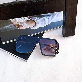 TYJYY Sunglasses Lunettes De Soleil Carrées Luxury Oversize Hommes Femmes Miroir Lunettes De Soleil Noir Pilote Lunettes D...