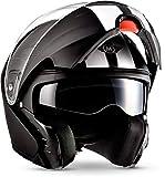 "MOTOHelmets F19 ""Racing Black"" · Motorrad-Helm · Klapp-Helm Modular-Helm Flip-up..."