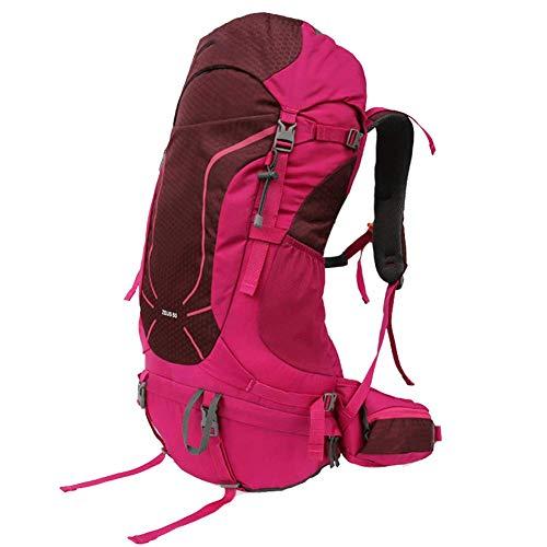 YHDQ Sac d'alpinisme extérieur/Sac à Dos extérieur féminin 50l / Voyage à l'épaule/Circuit de Grande capacité/Sac à Dos Respirant Multifonctionnel
