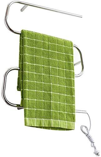 Toallero Eléctrico Bajo Consumo Calentadores de toallas eléctricas, estilo nórdico a prueba de agua Temperatura constante automática 40-50 ° C Estante de secado de calor Rack de toallas adecuado para