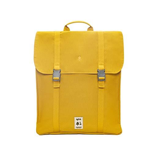 Lefrik - Mochila Handy Casual y Práctica - Tejido 100% Reciclado - Eco Friendly - Para trabajar o para viajar - 12 L - Color Mustard