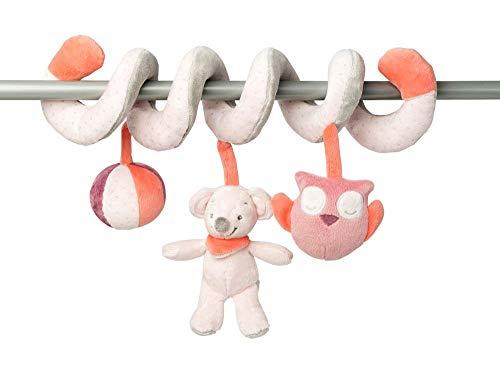 Nattou Spirale de Jeu Souris Valentine avec Figurines Suspendues, Adèle et Valentine, 18 x 29 x 25 cm, Rose