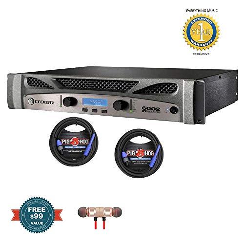 Great Deal! Crown XTi 6002 2-channel, 2100W 4 ohms Power Amplifier & 2 Pig Hog 25ft SPKON 1/4' Cable...