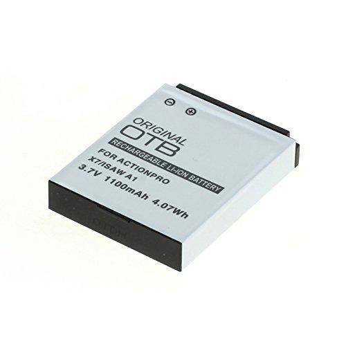 OTB Akku für Actionpro X7 / Isaw A1/A2Ace/A3/ Extreme Li-Ion Schwarz