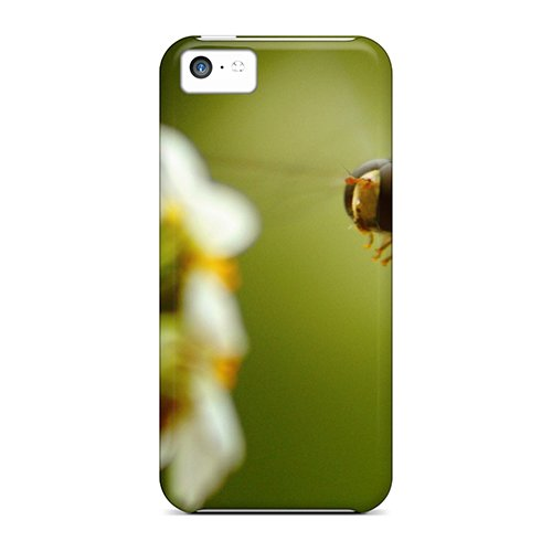 5c Scratch-proof Protection Case Cover For Iphone/ Hot Bee On Flower Phone Case