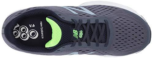 New Balance Men's 680 V6 Running Shoe, Pigment/RGB Green, 11 4E US 13