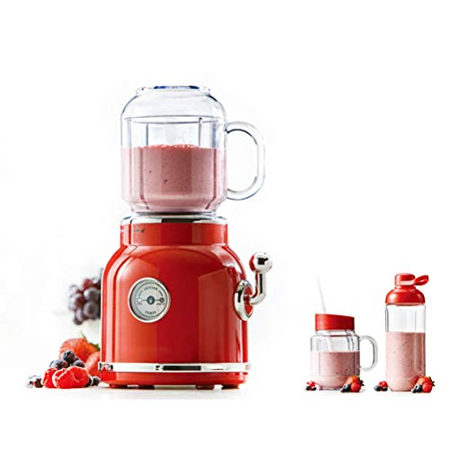 Blender Smoothie Maker, draagbare elektrische Juicer Blender, fruit Babyvoeding Milkshake Mixer, Vlees Grinder, Multifunctionele Retro Juice Maker Machine, Red