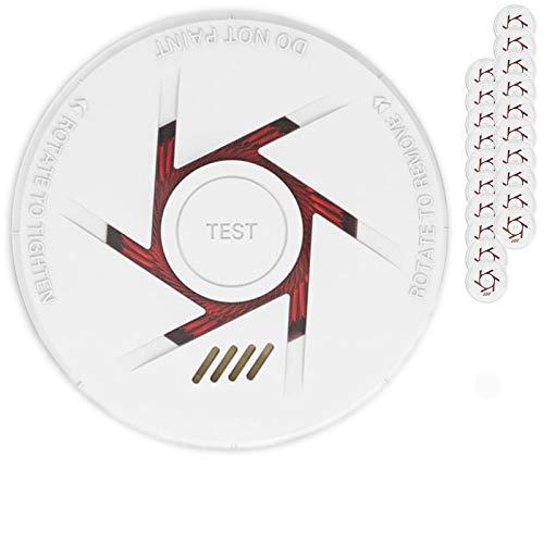 Rauchmelder 20er Set mit 10 Jahre Garantie inkl. 20x 9V Batterie geprüft nach DIN EN14604 und BSI Zertifiziert - 20 Stück Rauchwarnmelder Feuermelder Brandmelder Feueralarm