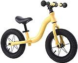 Balance De Aleación De Aluminio Bicicleta De Entrenamiento De Ejercicio De La Bici-no Pedal De La Bicicleta, Ruedas Inflables De 12 Pulgadas, Asiento Ajustable En Altura, Rotación Flex(Color:amarillo)