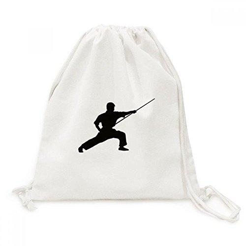 DIYthinker Herren China Shaolin Kung Fu-Stick Kultur Leinwand Rucksack-Reisen Shopping Bags Einheitgrosse Mehrfarbig