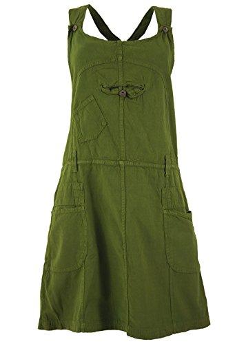Guru-Shop Latzrock, Trägerkleid, Hippierock, Damen, Olive, Baumwolle, Size:M (38), Röcke/Kurz Alternative Bekleidung