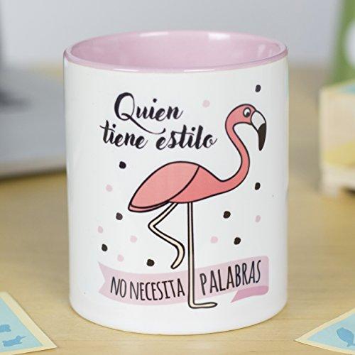 La Mente es Maravillosa - Taza con Frase y dibujo. Regalo original y gracioso (Quien tiene estilo no necesita palabras) Taza Diseño Flamenco