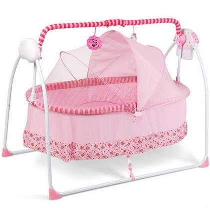 Buy automatic baby cradle Electric Baby Intelligent swing bed rocking chair Nersery bassinets