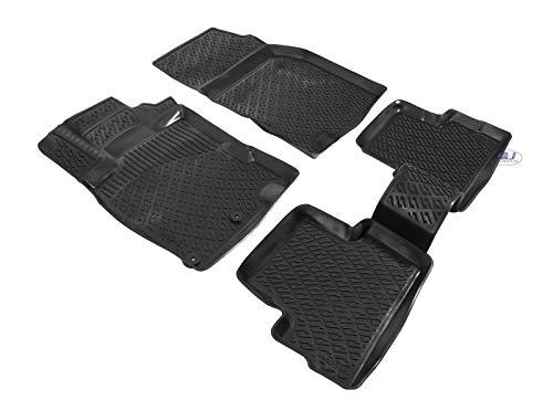 J&J AUTOMOTIVE   Tapis DE Sol en Caoutchouc 3D Exclusive Compatible avec Nissan Qashqai 2019-prés 4PC