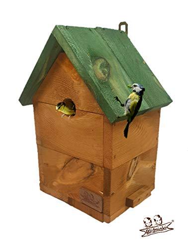 BLIZNIAKI Nistkästen Für kleine Vögel Blaumeise Tannenmeise Sumpfmeise Haubenmeise Meisennistkastens, FI 2.8 cm Futterhaus Vogelhaus Nisthaus Nistkasten