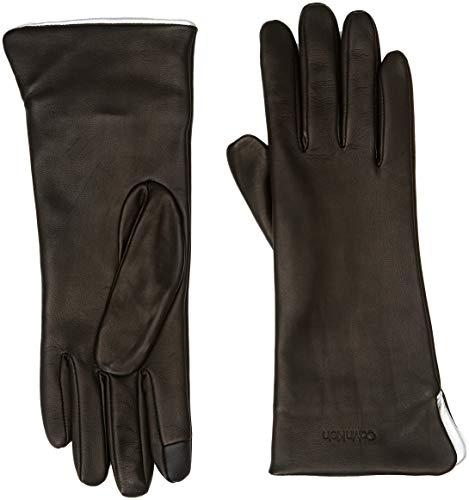 Tommy Hilfiger Clr Contrast Gloves Guantes, Negro (Black 001), Medium (Talla del fabricante: M-L) para Mujer
