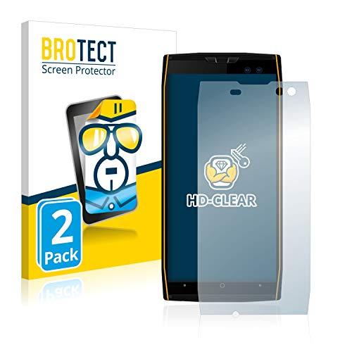 BROTECT Schutzfolie kompatibel mit Doogee S50 (2 Stück) klare Bildschirmschutz-Folie